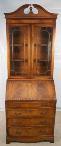 Antique Georgian Style Mahogany Bureau Bookcase - SOLD